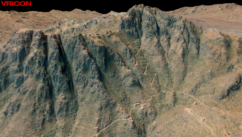 Created using satellite imagery, Vricon's 3D model of Yemen provides 0.5-meter resolution. (image: Vricon)