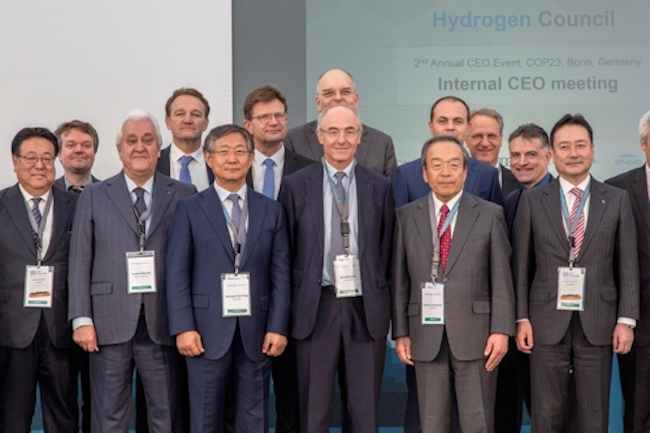 Hyundai Motor Co., South Korea's top auto maker, said Tuesday it has been tapped to co-lead a global initiative to promote hydrogen as an alternative energy for transport and other industries. (Image: Yonhap)