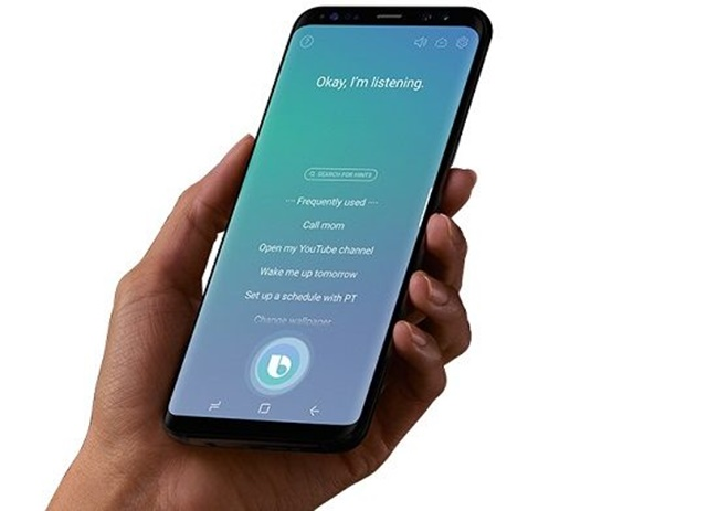 Chinese tech giant Baidu Inc. is expected to emerge as a major player in the field of voice-recognizing artificial intelligence programs through 2022, an industry tracker said Friday, widening the gap with Samsung Electronics Co.'s Bixby. (Image: Samsung)