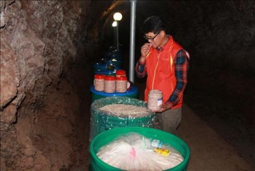 Wine and Shrimp Replace Ammunition in Yeongdong Caves