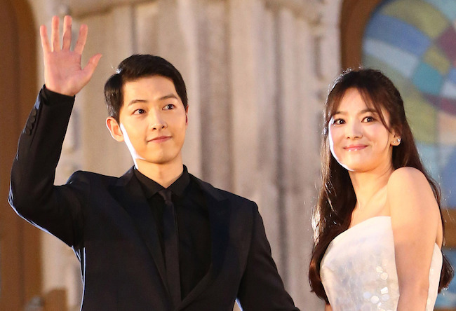 Song Joon-ki and Song Hye-kyo (Image: Yonhap)