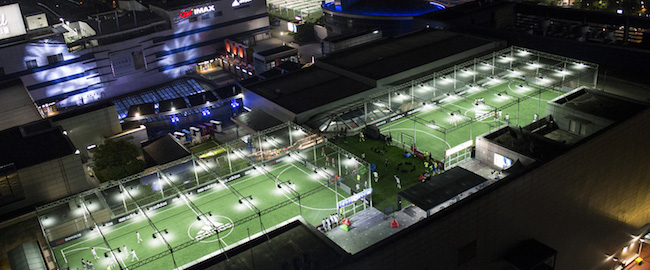 I'Park Department Store was a first-mover among shopping malls in installing futsal fields on its rooftops, first doing so in 2012. (Image: I'Park Department Store Website)