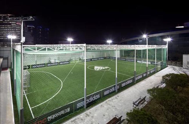 Once completed, this will bring the total number of futsal fields to eight, including two outdoor and one indoor facilities already in place. (Image: Yonhap)