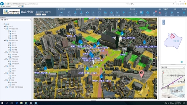 Based on the indices, areas underground will either be colored green (stable), yellow (possibility of risk) and grey (rapid course of action recommended) on the screen in the command center. (Image: Seongdong District)