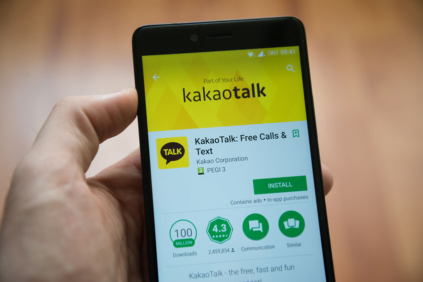 KakaoTalk was the most popular app among South Koreans in their 30s with Android phones. (Image: Kobiz Media)