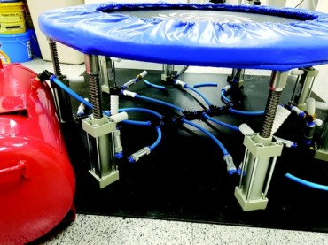 Collegians Develop Trampoline to Produce Compressed Air for Dental Use