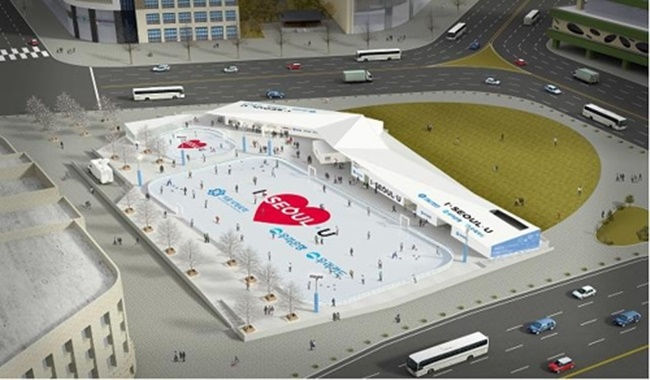 The Seoul Plaza skating rink will open this year on Friday, welcoming visitors throughout the winter until February 25. (Image: Seoul Metropolitan Government)