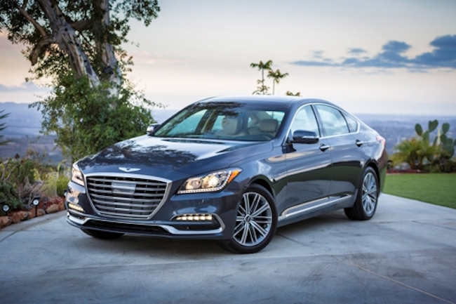 The Genesis G80 and G90 sedans earned the highest safety rating from the Insurance Institute for Highway Safety (IIHS) for the year of 2018, Hyundai Motor said Thursday. (Image: Hyundai Genesis)