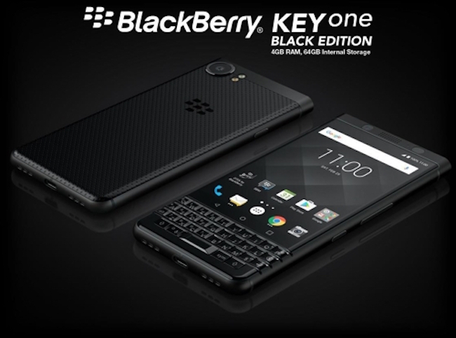 "Alain Lejeune said South Korea is ""a demanding and competitive market,"" but he said the BlackBerry KEYOne Black Edition will be a successful product in South Korea. (Image: Yonhap)"