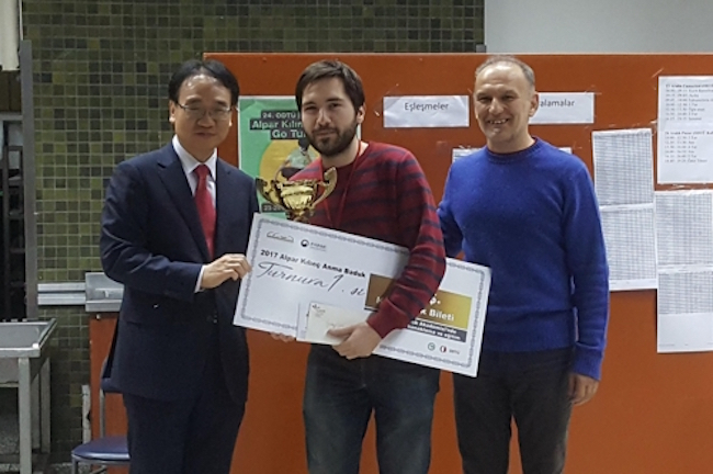 On December 24, a 22-year old medical student was declared the tournament winner, and was awarded a prize of $500 and a 15-day all-expenses-paid stay at the Blackie's International Baduk Academy located in Gangnam District, Seoul. (Image: Korean Cultural Center in Turkey)