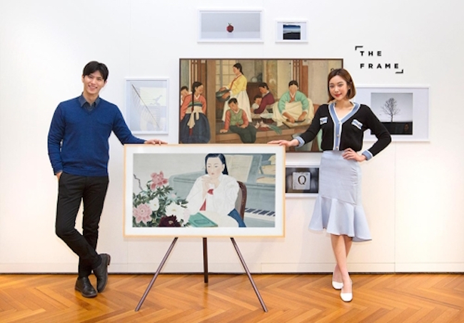Samsung Electronics Co. said Thursday it will deliver artworks displayed at the National Museum of Modern and Contemporary Art through its premium The Frame television sets free of charge. (Image: Yonhap)