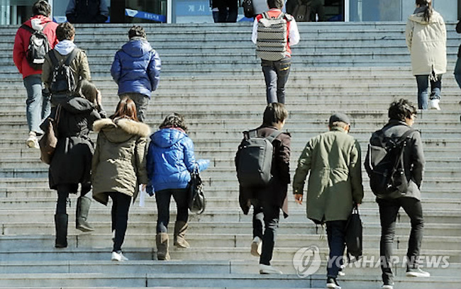 Compared to the responses to the same statement in 2012, the number of students with an ambivalent attitude towards settling down increased by 18.1 percentage points. (Image: Yonhap)