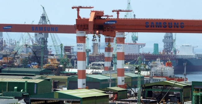 Samsung Heavy Industries Co., a major South Korean shipbuilder, said Monday that it has sold an offshore facility to a European company for around US$500 million. (Image: Yonhap)