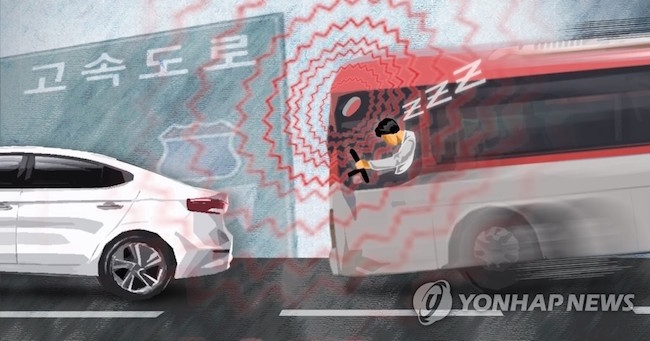 Should the probability of danger pass a certain threshold, a wristband that the driver wears will vibrate with enough force to keep him or her awake. (Image: Yonhap)