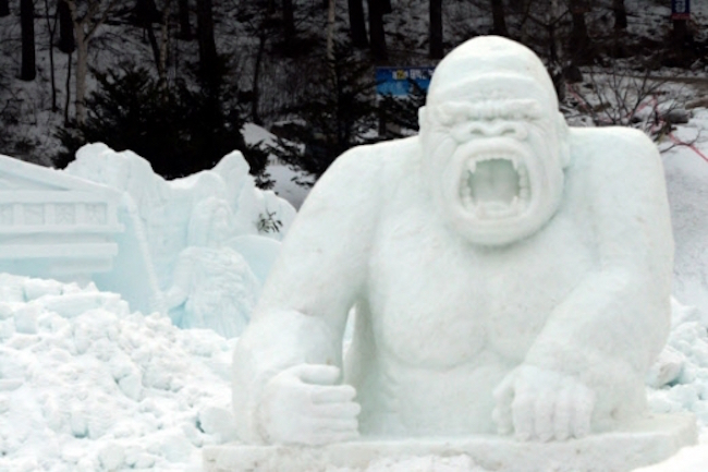 King Kong Ice Sculpture (Image: Yonhap)