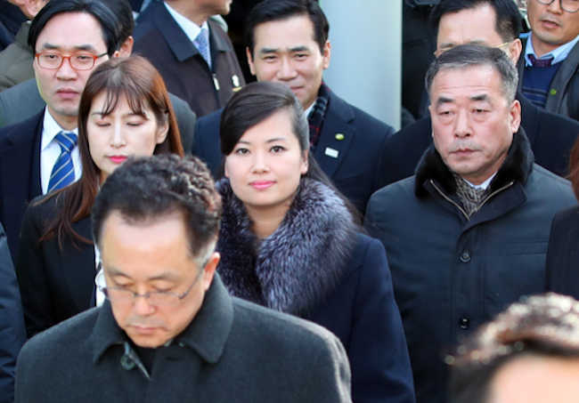 The delegation, led by North Korean pop singer Hyun Sung-wol, entered South Korean territory in the morning hours. According to the Ministry of Unification, Hyun's group crossed the Military Demarcation Line at 8:57 a.m. and South Korea's CIQ at 9:02 a.m. (Image: Yonhap)