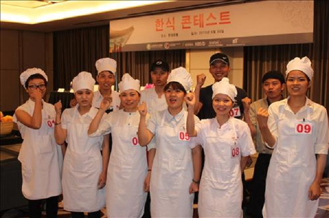 A Korean food cooking contest in Vietnam (Image: Yonhap)