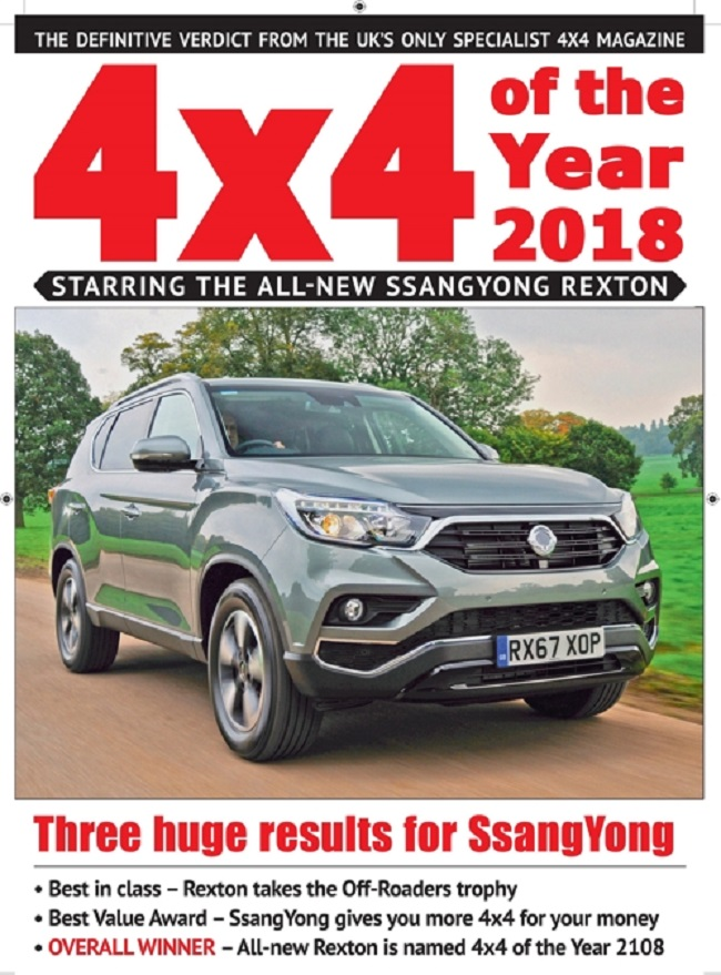 The G4 Rexton will grace the cover of 4x4's February issue. (Image: Ssangyong Motor)