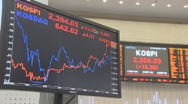 The amount of stock sales through block deals on South Korean bourses increased sharply in 2017 from a year earlier, the Korea Exchange (KRX) said Monday. (Image: Yonhap)