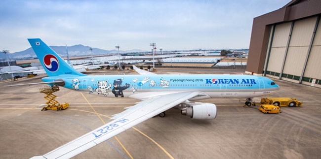 Korean Air Jet Inspired by PyeongChang Olympics