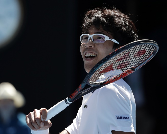 Chung is a rising sports star in South Korea, a country that has never had as successful a tennis player as him on the international stage before. (Image: Yonhap)
