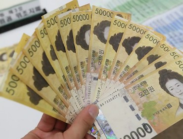 50,000 Won Bills Account for 80 Pct of Value of All Banknotes in Circulation