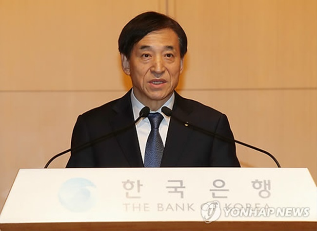 """The Bank of Korea raises the rate based on data, economic indices and other conditions,"" BOK Gov. Lee Ju-yeol told reporters. ""The board members have been worried about inflation. They will be more prudent."" (Image: Yonhap)"