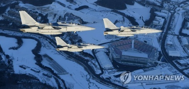The survey was conducted Wednesday after North Korean leader Kim Jong-un, in his New Year's Day speech, indicated the possibility of sending North Korean athletes to the Olympics.(Image: the Air Force)
