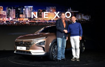 Hyundai Unveils Hydrogen-powered NEXO at CES 2018