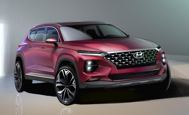 Hyundai shows off redesigned, fourth-generation Santa Fe SUV ahead of debut