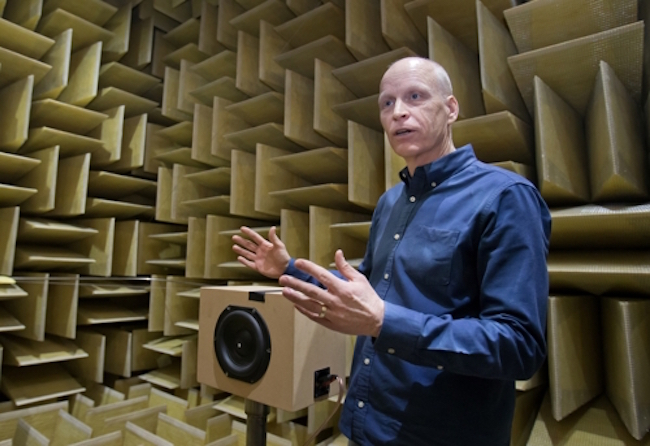 "A former longtime employee at Harman International Industries, managing director of Audio Lab Alan Devantier says, ""I can say with confidence that this place is the number one sound R&D lab in the world."" (Image: Samsung Electronics)"