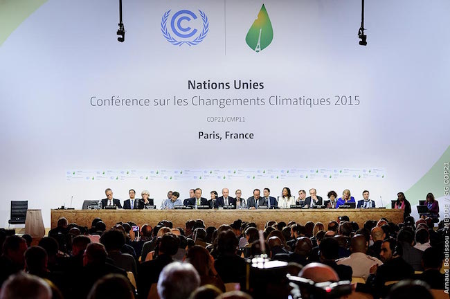 South Korea's science ministry said Monday it will invest 86.6 billion won (US$81.5 million) this year to develop climate-related technologies to curb carbon gas emissions. (Image: COP21 Paris Agreement Website)