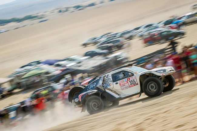 "The Dakar Rally, known colloquially as ""the race from hell"", is famous for its brutal conditions and harrowing racing schedule, leaving many participants with injuries and accidents. (Image: SsangYong Motor)"