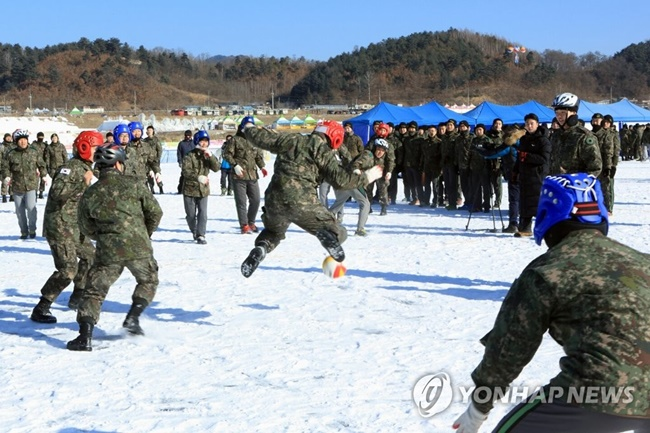 From 'human curling' to 'dodge ball', a number of sports programs were provided for military personnel to let loose, with teams of six competing in a total of 62 tournaments for a cash prize of 13 million won given to the top three players. (Image: Yonhap)