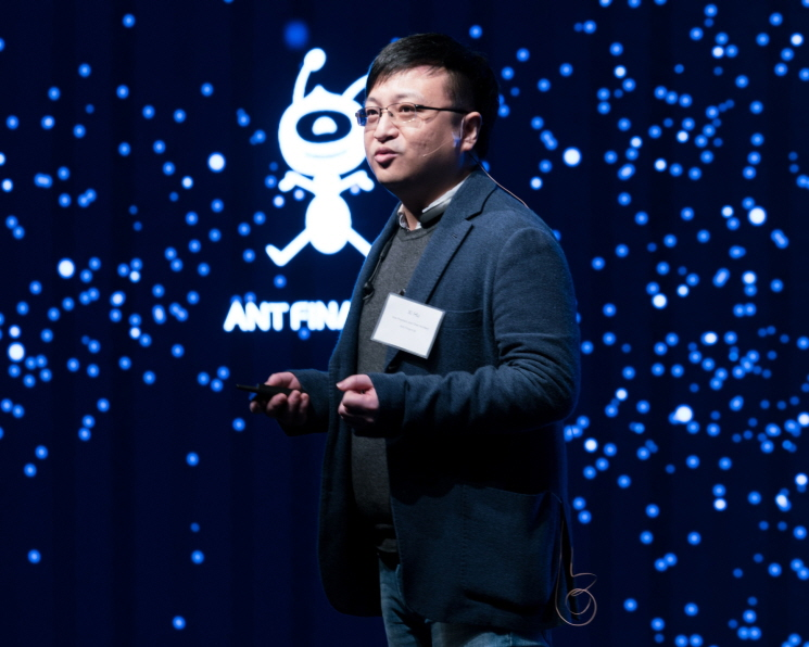 """The impossibilities of today lead to breakthroughs tomorrow,"" said Hu Xi at ATEC, a tech forum hosted by Ant Financial. (image: Ant Financial Services Group)"