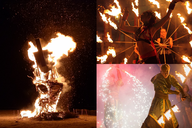 Every weekend, special fire performances are scheduled, featuring Japan's Fire Bandit (February 2), Russia's L-show Group (February 10), Ukraine's Adelaida (February 16 and 17, the Lunar New Year holidays). (Image: Culture Pyeongchang 2018)