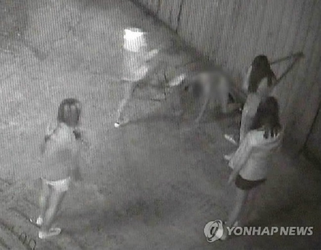 Last September, a 14-year old female middle school student was discovered bloodied in a Busan alley. (Image: Yonhap)