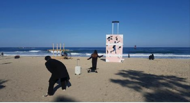 Artwork at the Gangneung Gyeongpo Beach (Image: Gangwon Province)