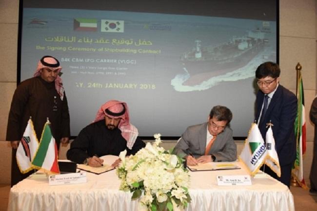 Hyundai Heavy Wins $220m Gas Carrier Order in Kuwait