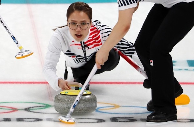South Korean women's curling team skip Kim Eun-jung (Image: Yonhap)