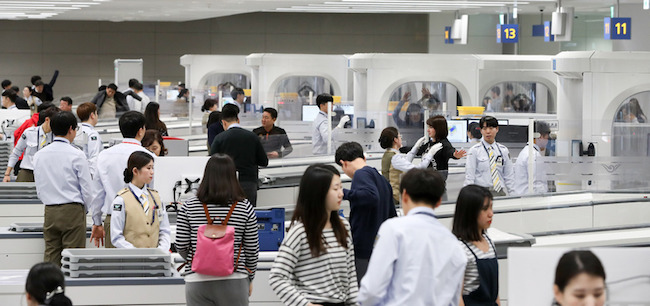 Incheon International Airport's newly opened second terminal is helping facilitate passenger processing at South Korea's main international gateway, the facility's operator said Sunday. (Image: Yonhap)