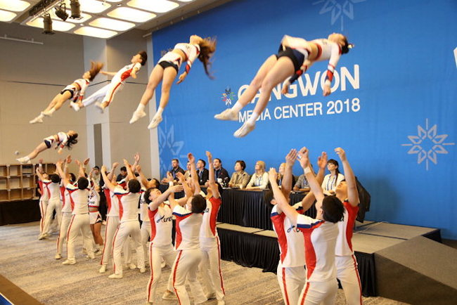 S. Korea's cheerleading team (Image: Yonhap)