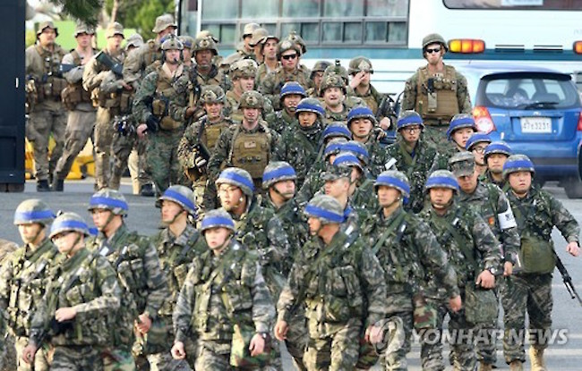 South Korea's defense ministry affirmed Tuesday that the country's troops will conduct combined command-post drills with the United States this year despite Olympics-driven rapprochement with North Korea. (Image: Yonhap)