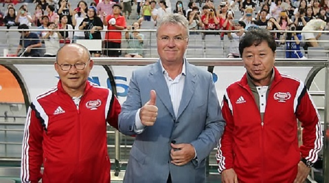 A soccer lifer who served as an assistant under Dutch coach Guus Hiddink in South Korea's miracle run to the semifinals of the 2002 FIFA World Cup, Park took the reins of the Vietnamese soccer program on October 25, promising improvement. (Image: Yonhap)