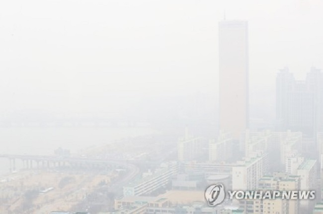 Yeouido Skyline on Jan. 20, 2018 (Image: Yonhap)