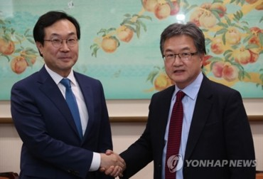 S. Korean, U.S. Nuke Envoys Discuss Ways to Resume Denuclearization Talks