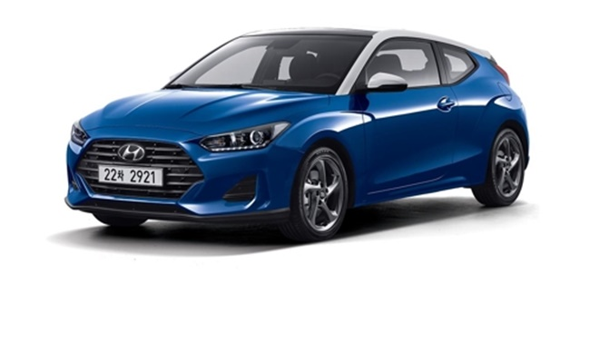 Hyundai Motor's all-new Veloster coupe is shown in this photo. (Image: Hyundai Motor)