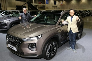 Hyundai Aims to Sell 90,000 Santa Fe SUVs in S. Korea This Year