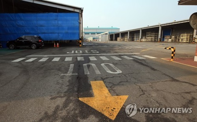 The factory of GM Korea's contractor in Gunsan, 274 kilometers south of Seoul, remains idle on Feb. 20, 2018. (Image: Yonhap)