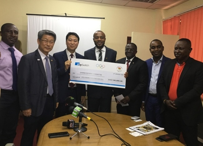 According to reports from local media including Modern Ghana, Ghana-based alternative payment service PaySwitch has donated around 23 million won to the Ghana Olympic Committee to help send the country's Olympic team to South Korea.(Image: Embassy of the Republic of Korea in Ghana)